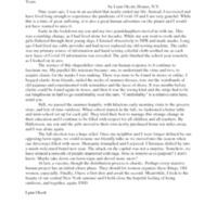 Lynn's essay – Nine Extra Years
